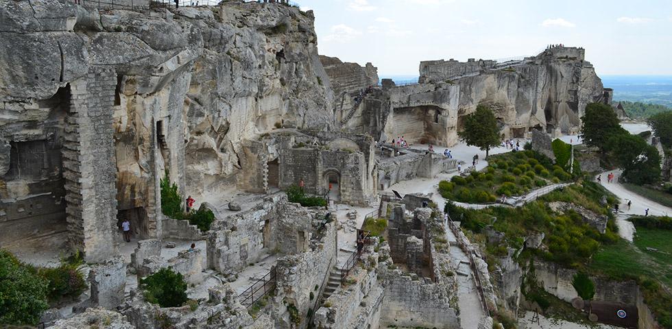 Burg Ruine von Les Beaux-de-Provence