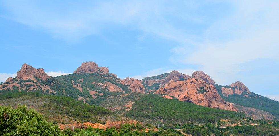 Esterel Gebirge Felsen Côte d'Azur