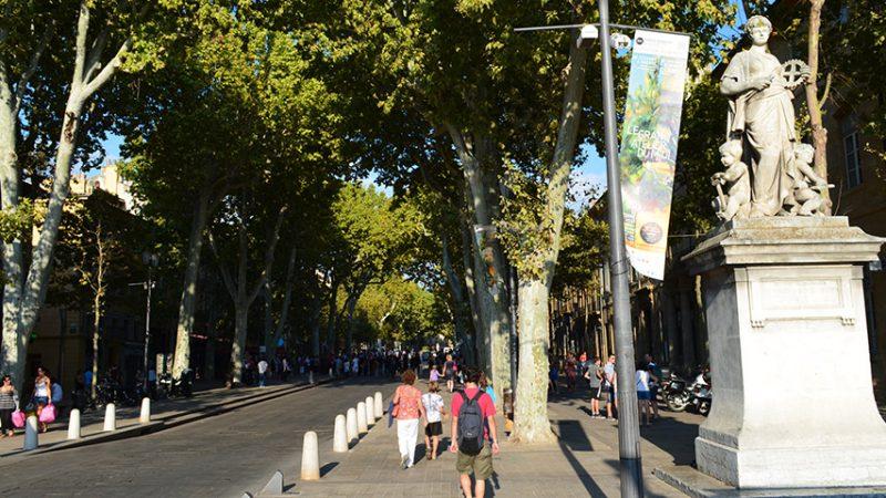 Aix-en-Provence - Boulevard Cours Mirabeau