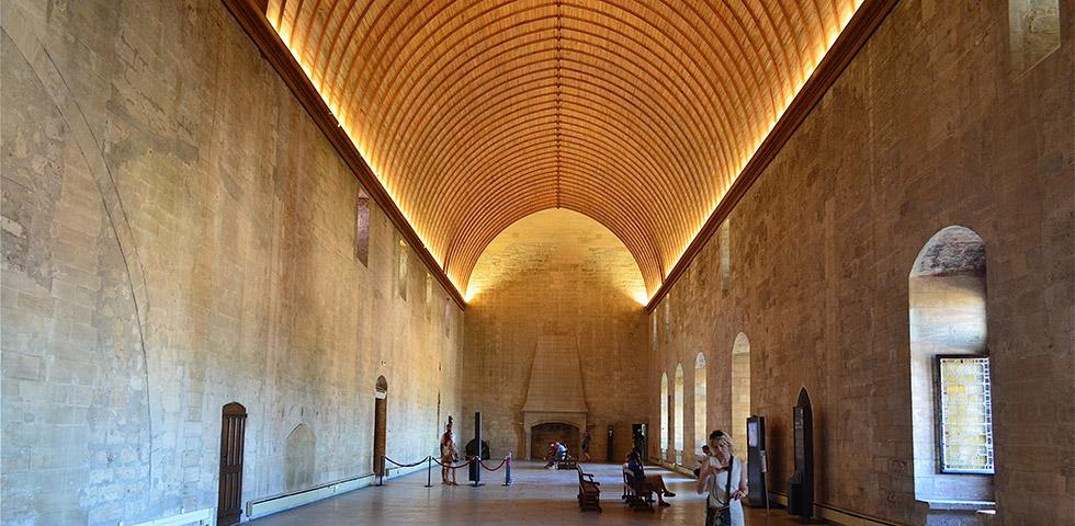 Avignon - Empfangssaal im Papstpalast