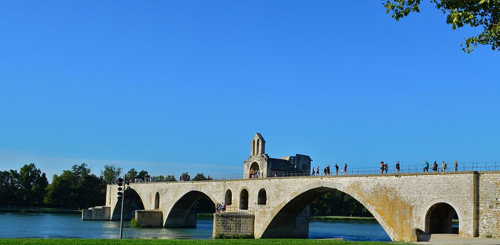 Avignon Pont Brücke Provence