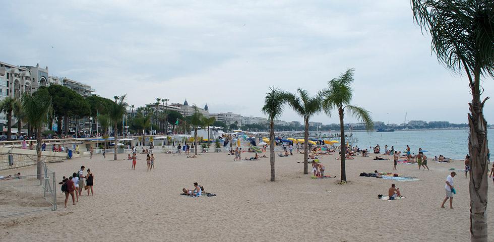 Strandpromenade in Cannes