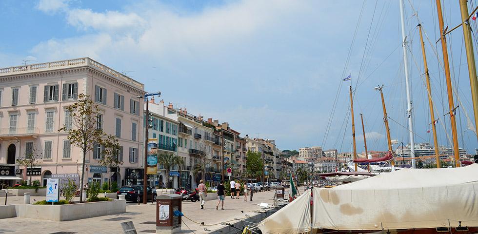 Stadt Cannes an der Côte d'Azur