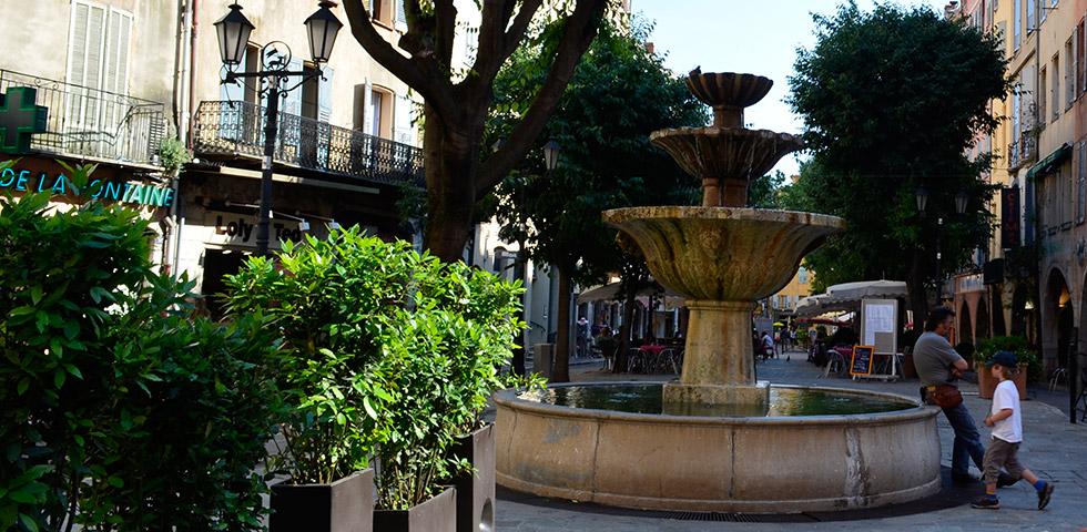 Brunnen Platz in Grasse
