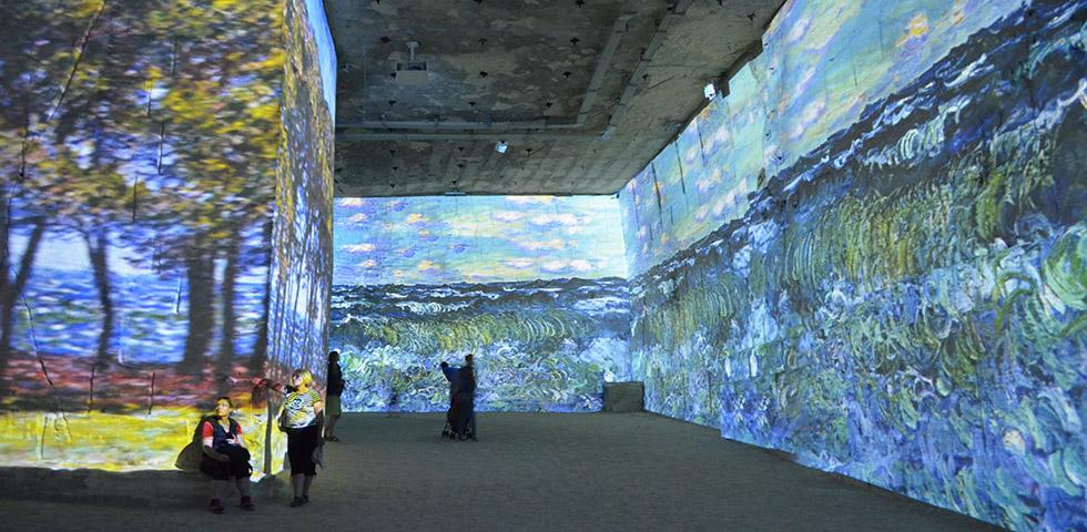 Carrières de Lumières mit Bildern von Monet