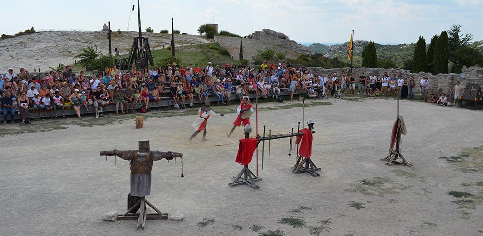 Ritter Turnier in Les Beaux-de-Provence