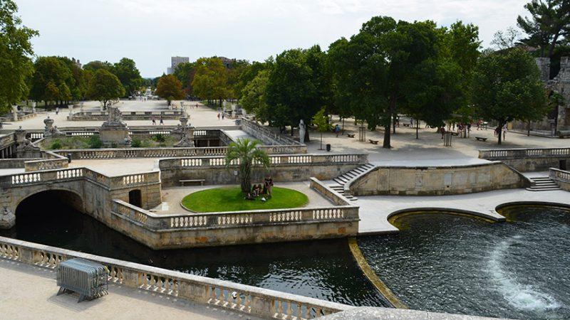 Jardins de la Fontaine in Nimes (Provence)