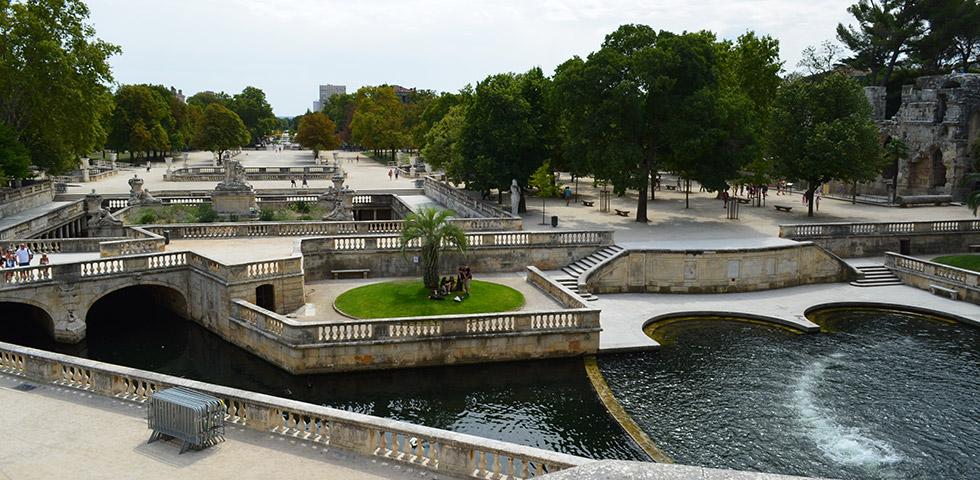 Park Jardins de la Fontaine in Nimes