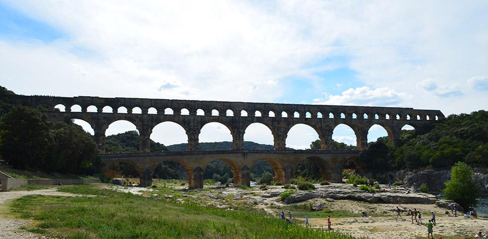 Römisches Aquädukt Pont du Gard
