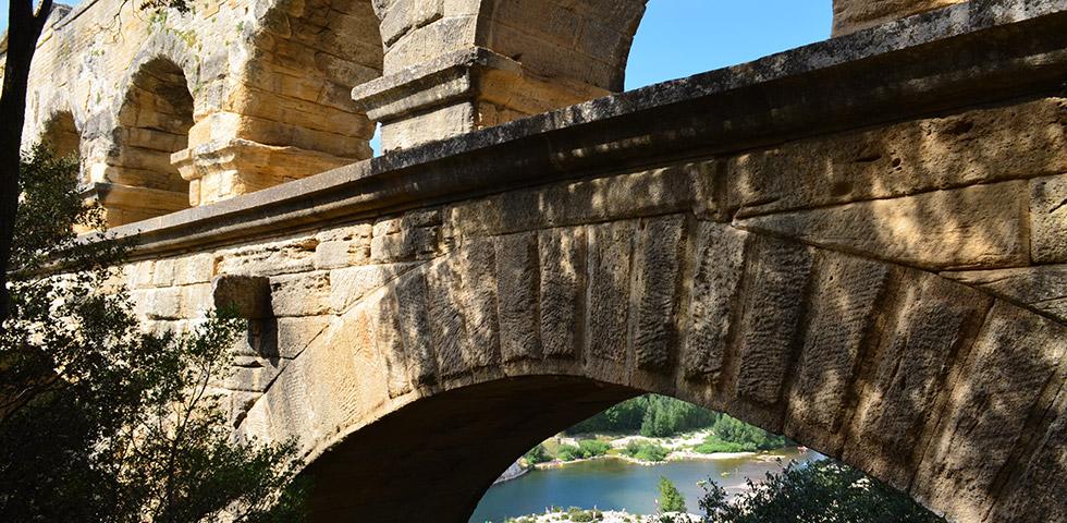 Römisches Bauwerk Pont du Gard Brücke