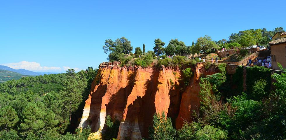 Roussillon Ockerfelsen Luberon