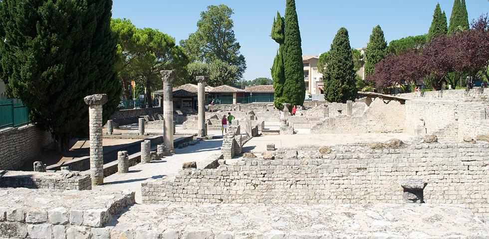 Puymin Ruinen Vaison-la-Romaine in der Vaucluse