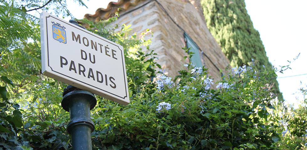 Gasse Straße Montée du Paradis Bormes-les-Mimosas