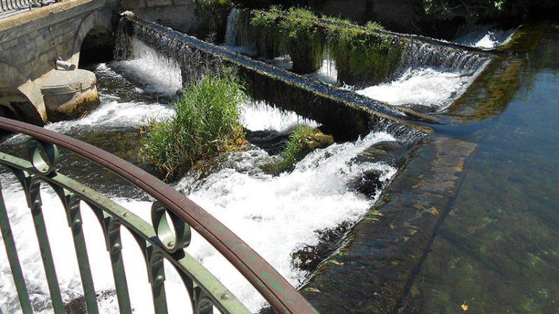 Stadt isle-sur-la-Sorgue in der provence